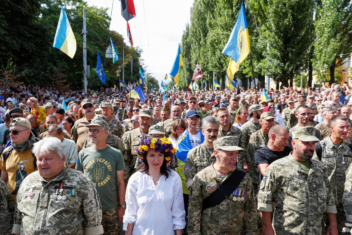 Přehlídka k 30. výročí nezávislosti Ukrajiny