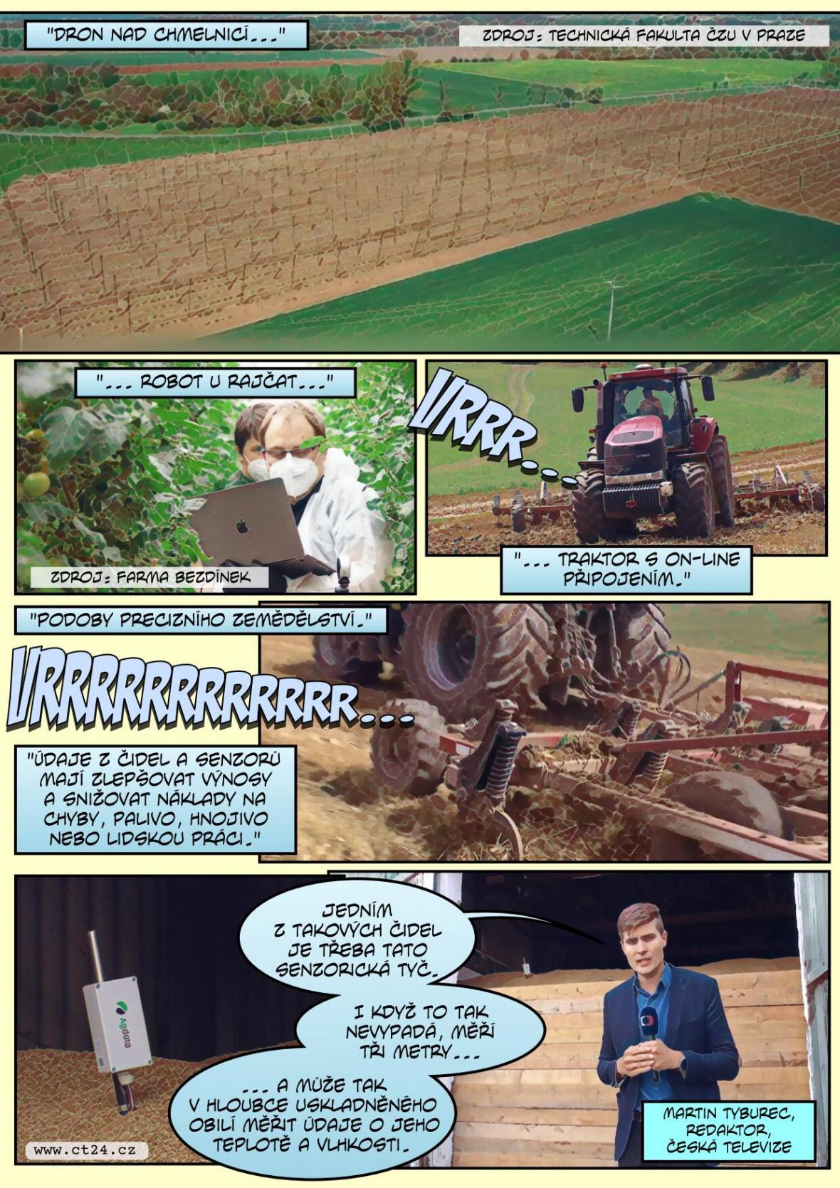 Nové technologie mají pomoci farmářům při sklizni