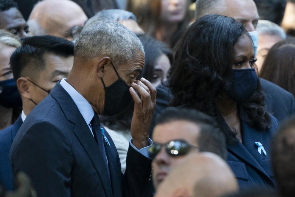 Bývalý prezident Barack Obama s manželkou Michelle