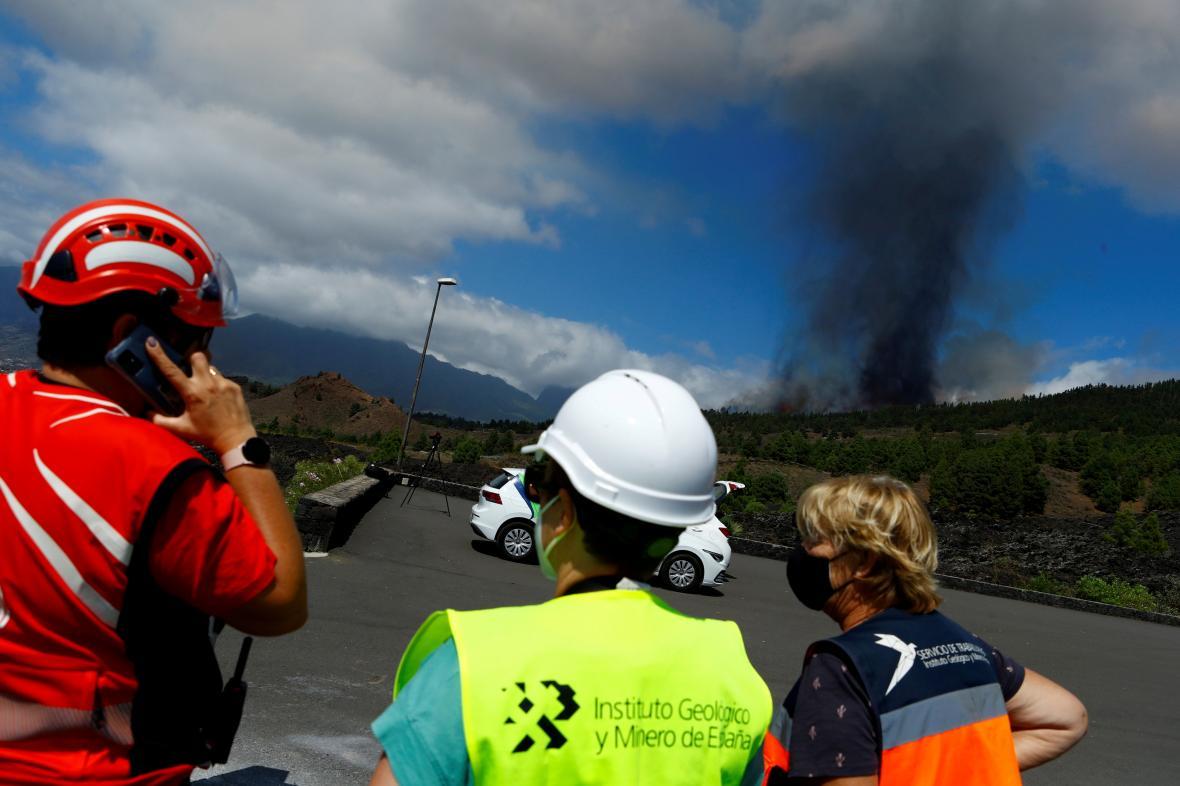Výbuch sopky Cumbre Vieja na ostrově La Palma