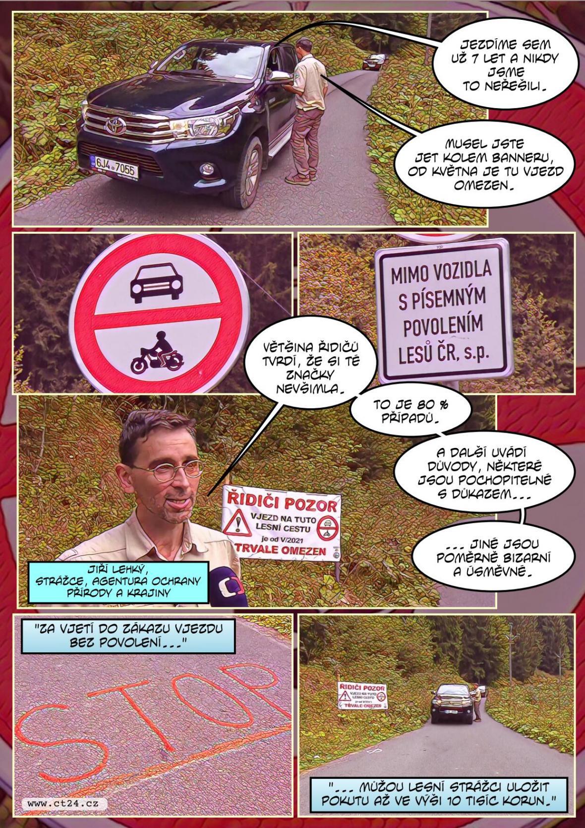 Ochránci přírody kontrolují řidiče