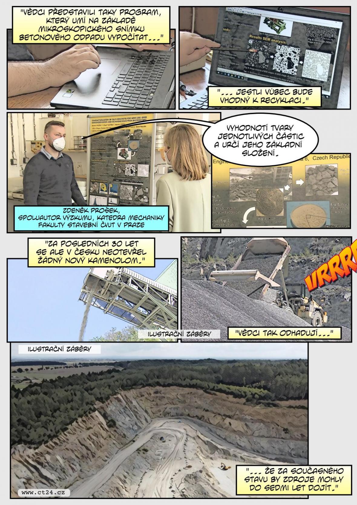 Jak se recykluje beton? Zaměřují se na to vědci z ČVUT