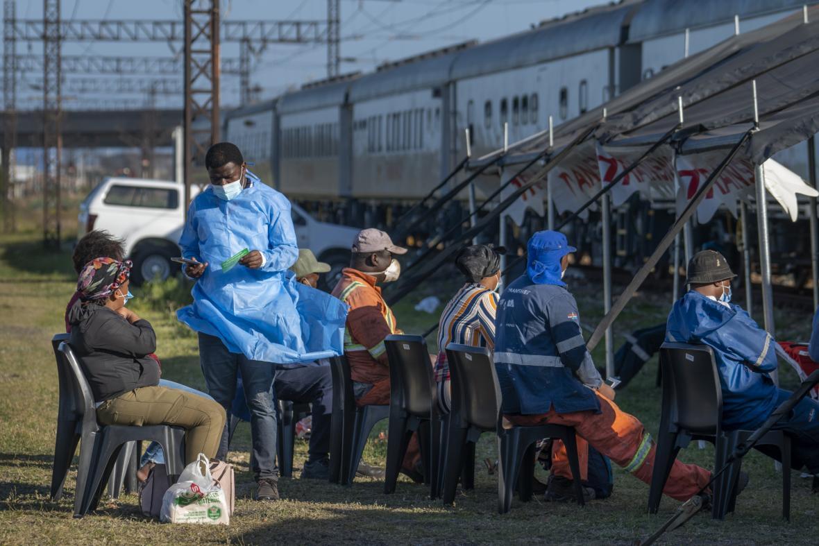 Jihoafrickou republikou projíždí očkovací vlak