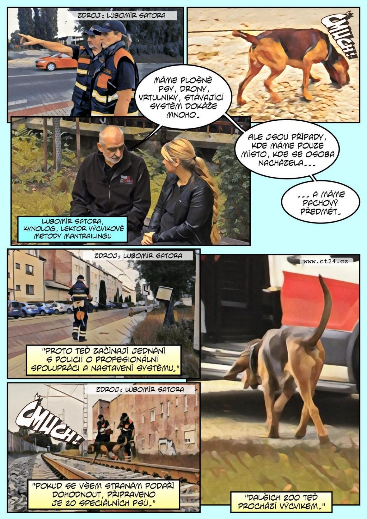 Dokážou sledovat pachovou stopu jen jednoho člověka. Využije tyto psy i policie?