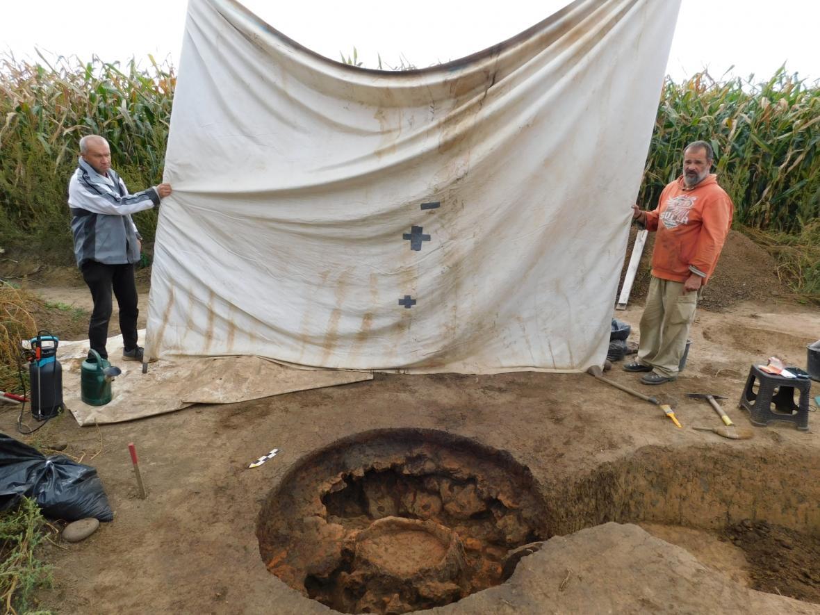 Archeologický výzkum v trase budoucího obchvatu Jaroměře
