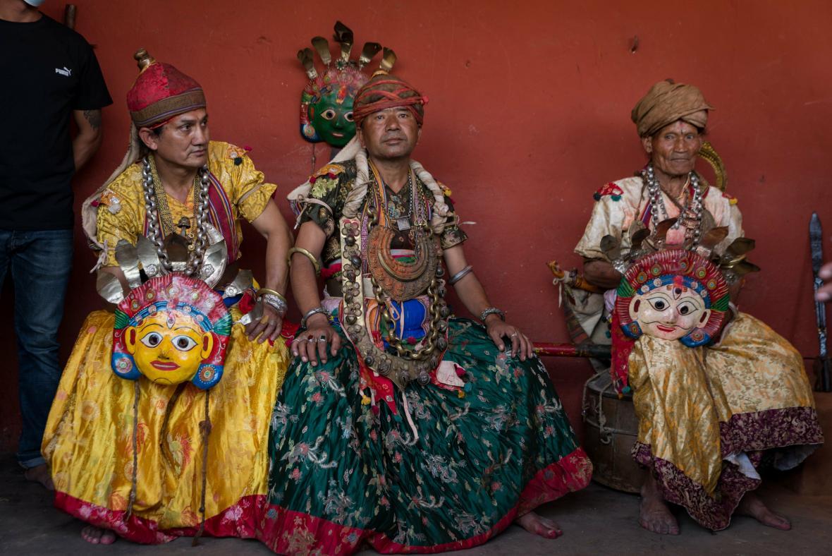 Festivalu Šikali Jatra v nepálském Pátanu vévodí ozdoby, masky a kostýmy, které jsou zasvěceny hinduistickým bohům