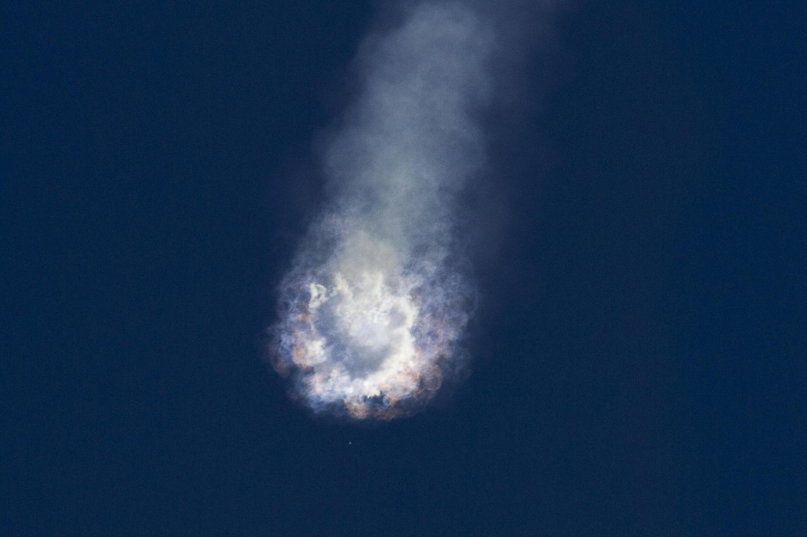 Výbuch rakety společnosti SpaceX