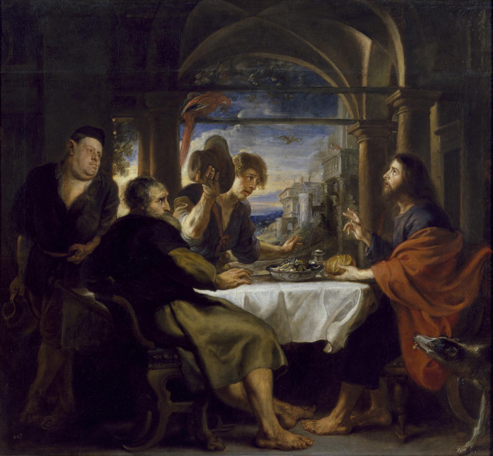 Peter Paul Rubens / Večeře v Emauzích, kolem 1636–1638