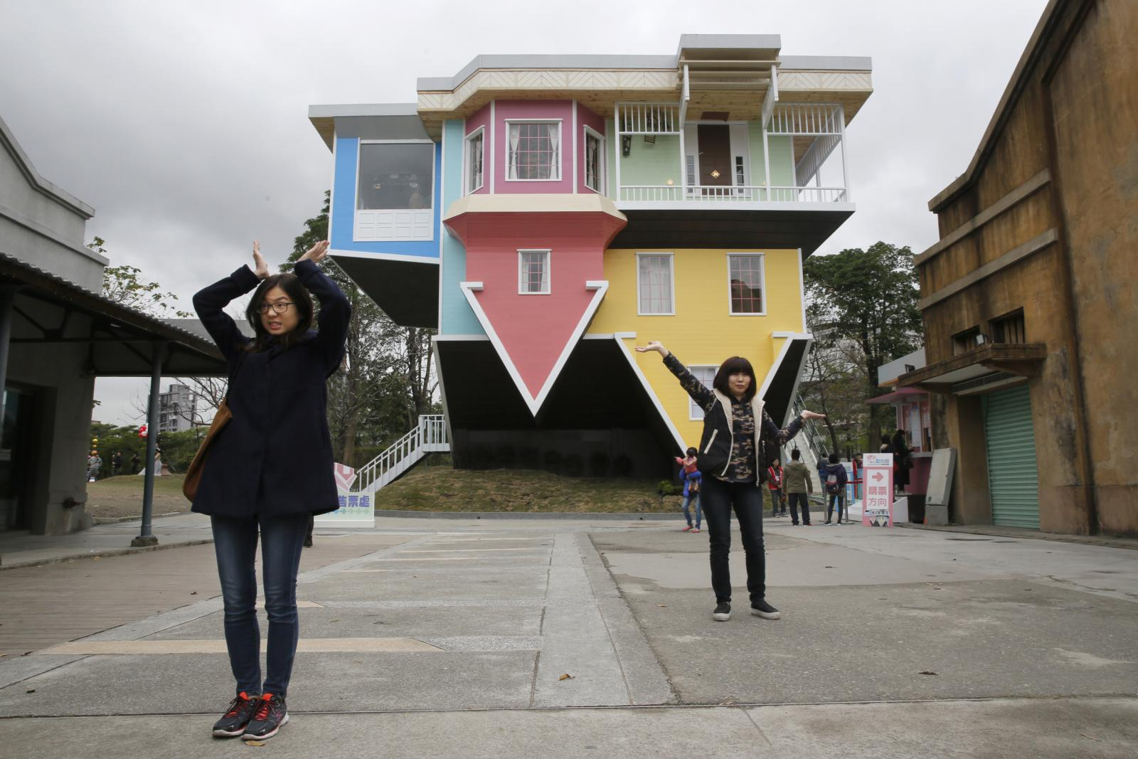 Na Tchaj-wanu mají dům, který byl postaven vzhůru nohama