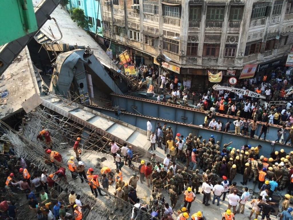 Zřícený most v Kalkatě