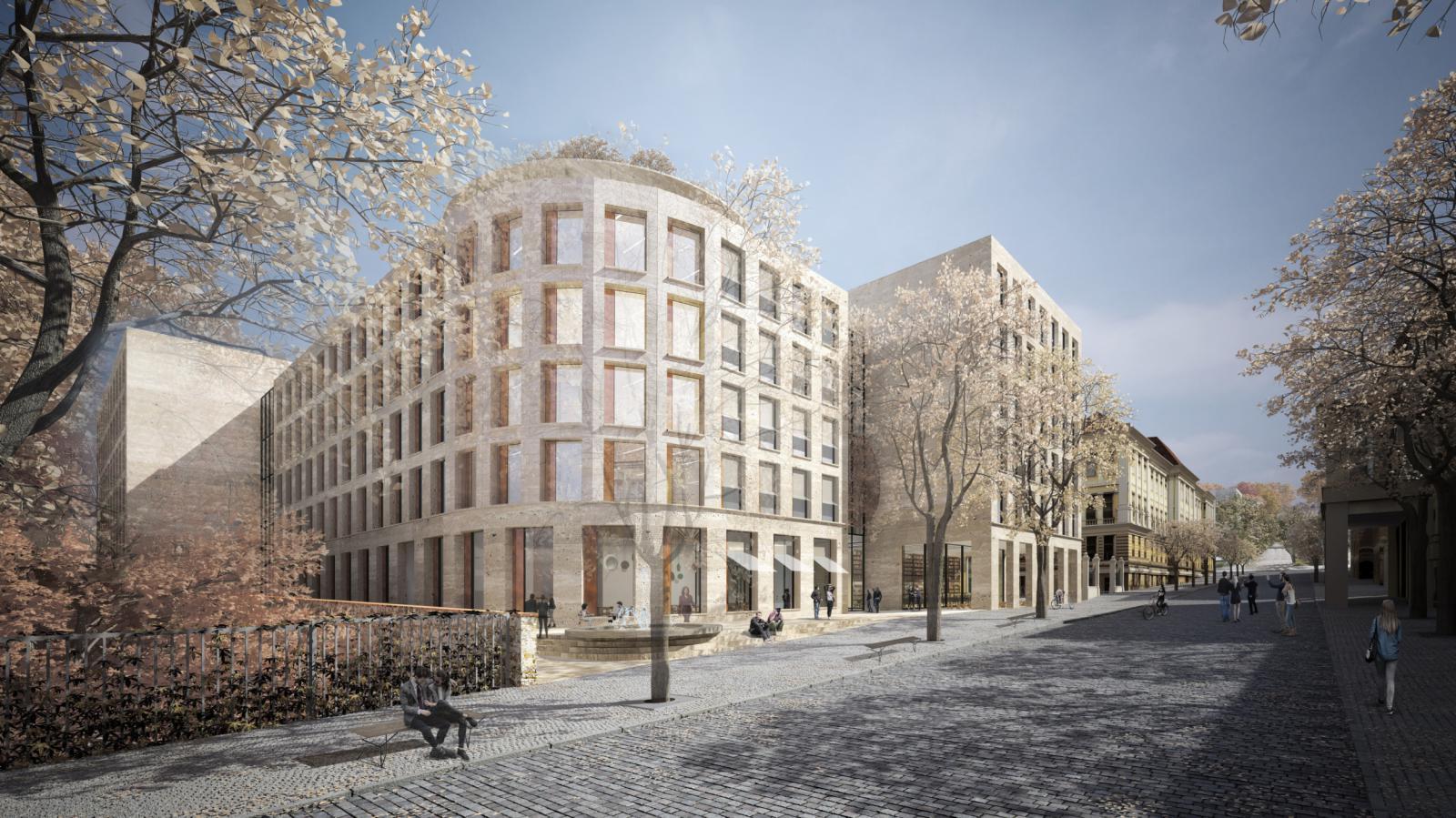 Vítězný návrh studia Znamení čtyř - architekti