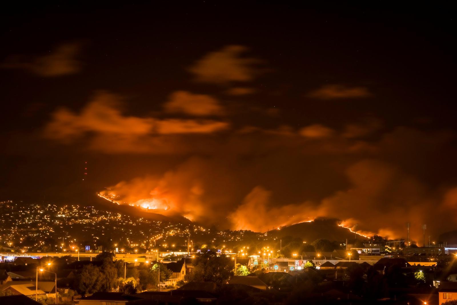 Požár u Christchurch