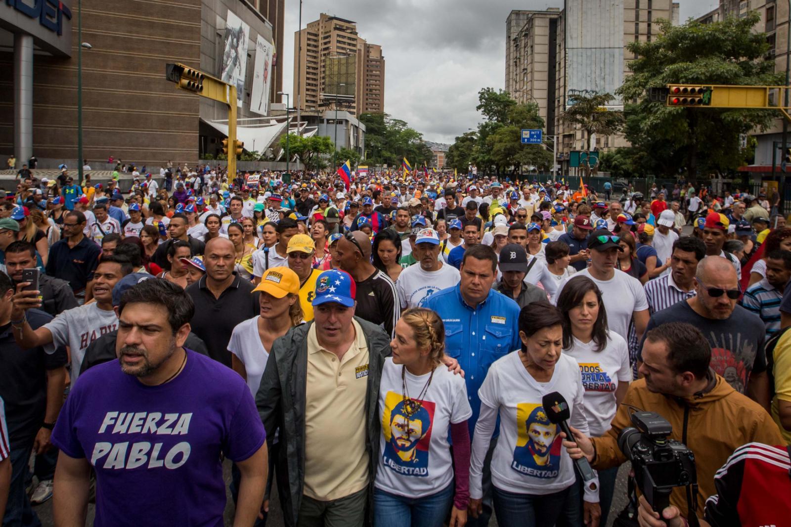 Protest v Caracasu