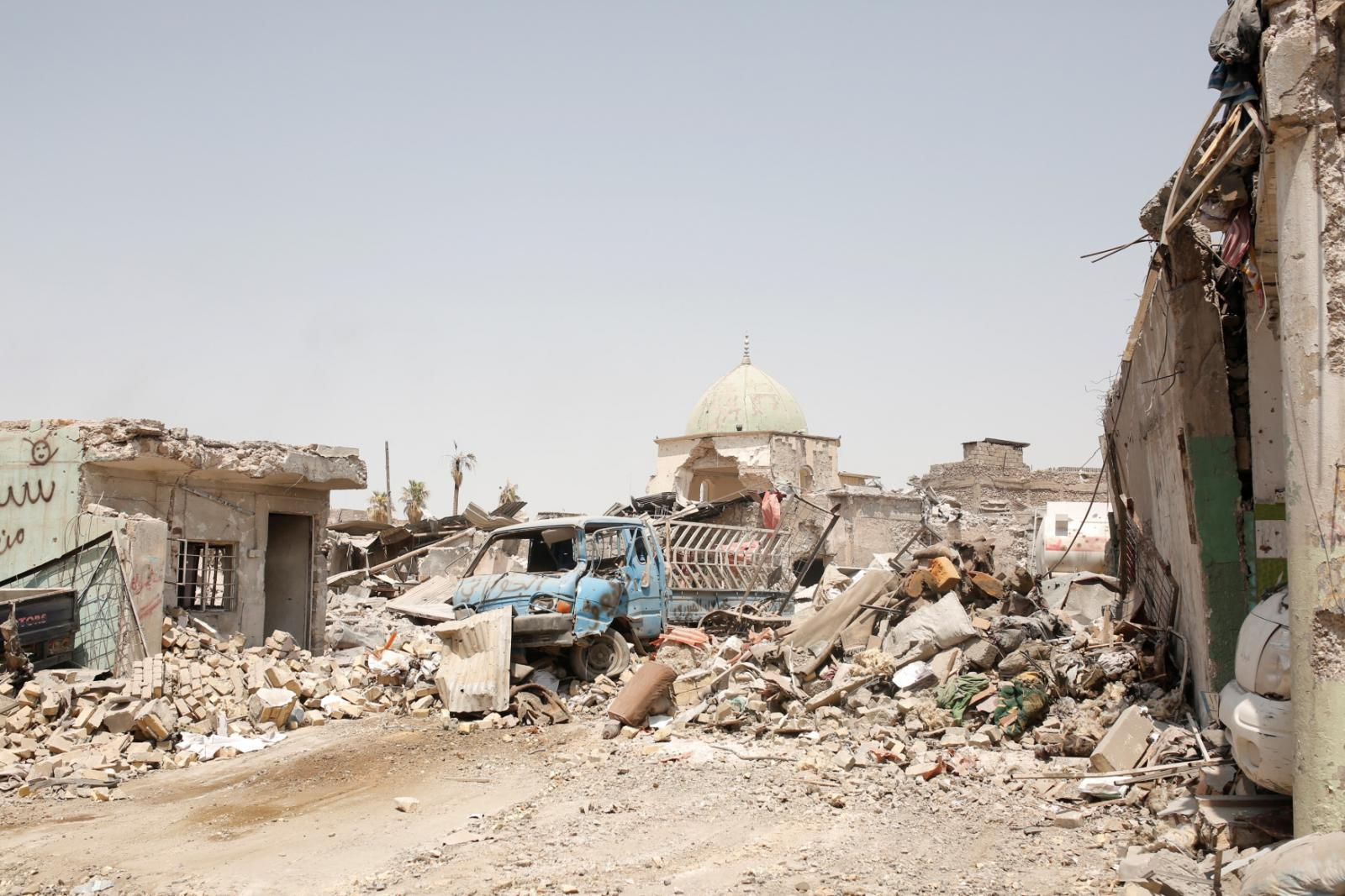 Zničený Mosul
