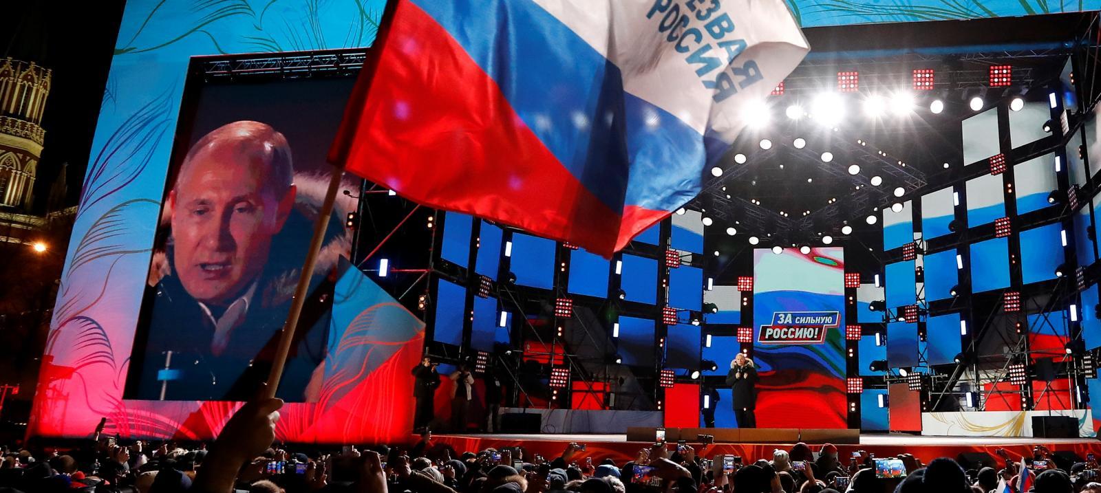 Putin slaví své volební vítězství
