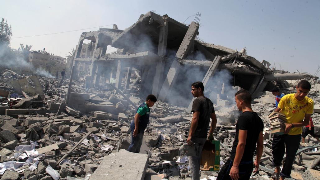 Gaza během válečného konfliktu v létě 2014