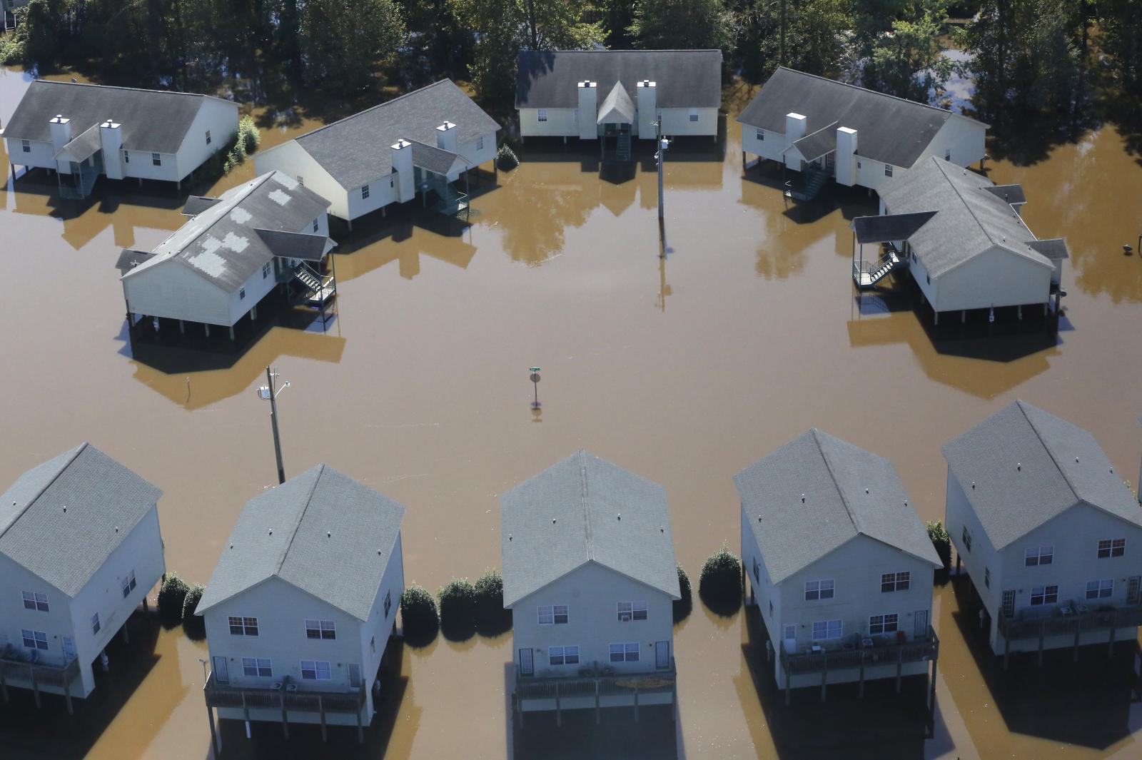 Povodně ve městě Greenville