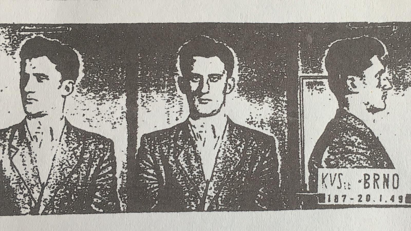 Fotografie Jana Romana z policejního spisu