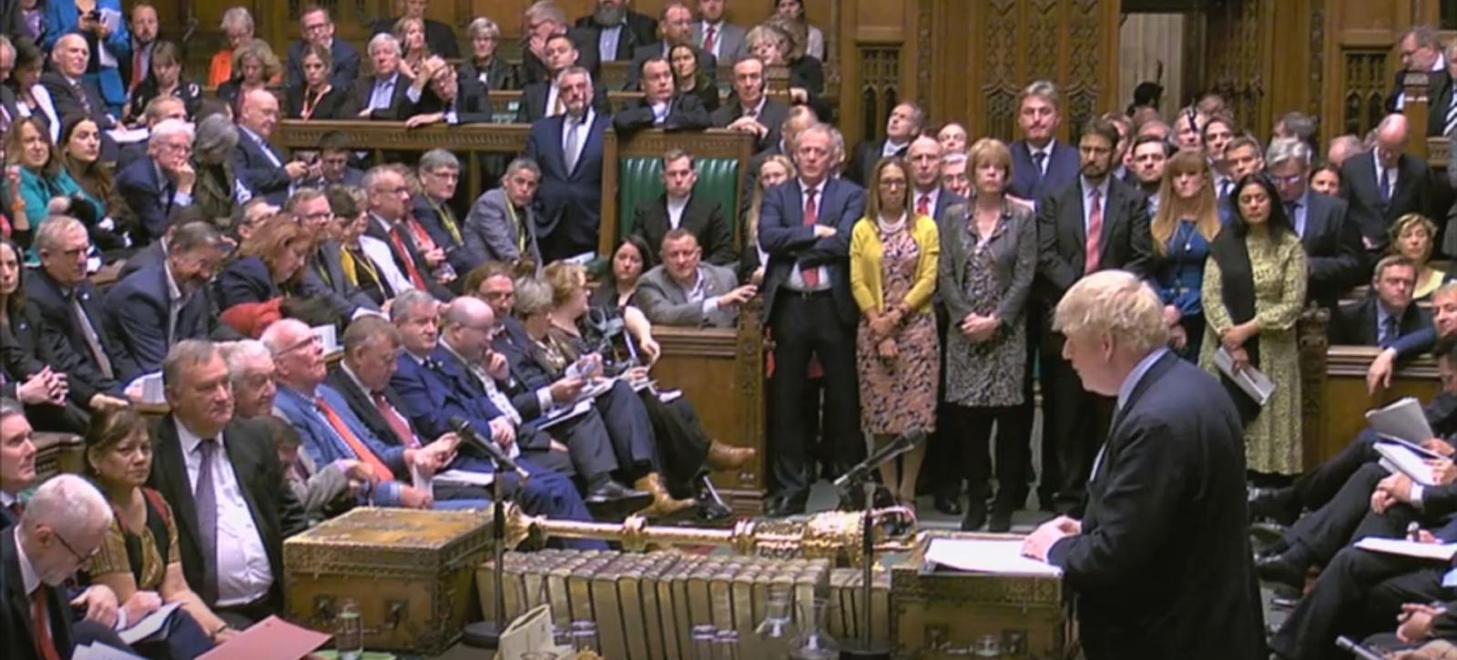 Boris Johnson v parlamentu