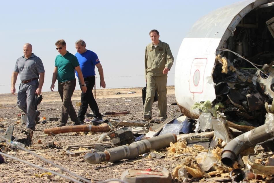Pád ruského airbusu v Egyptě