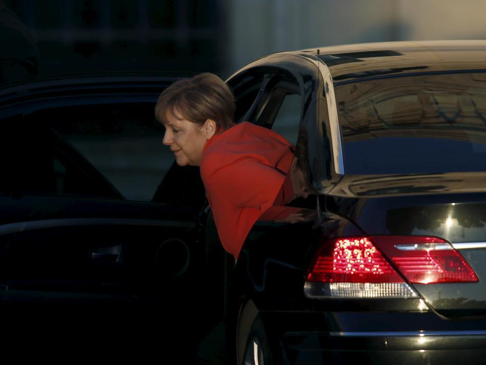 Angela Merkelová po příjezdu na maltský summit
