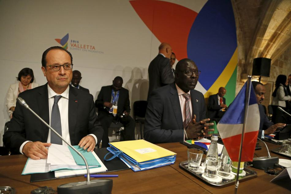 Francois Hollande na maltském summitu