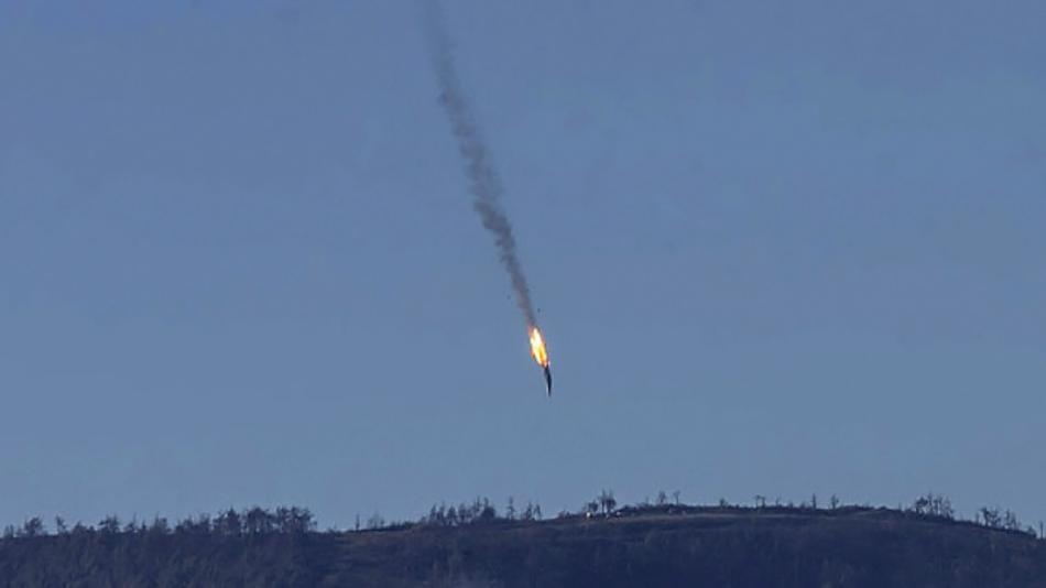 Sestřelený ruský Suchoj Su-24