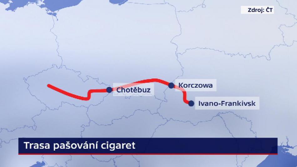 Trasa pašování cigaret