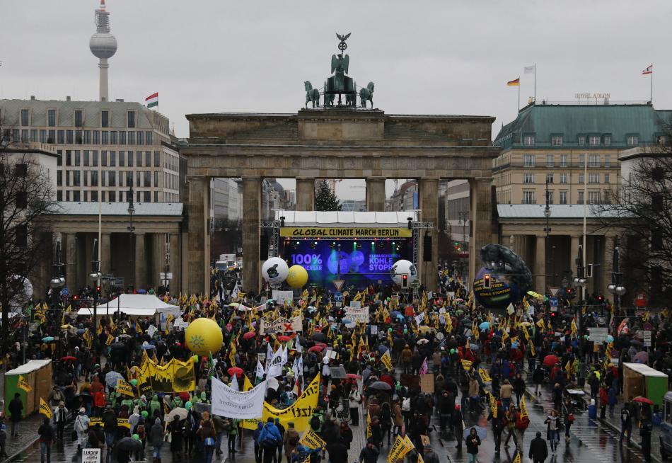 Demonstrace za zlepšení klimatu v Berlíně