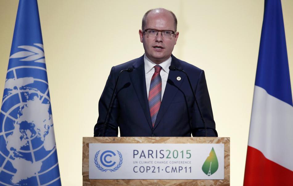 Bohuslav Sobotka na klimatické konferenci v Paříži