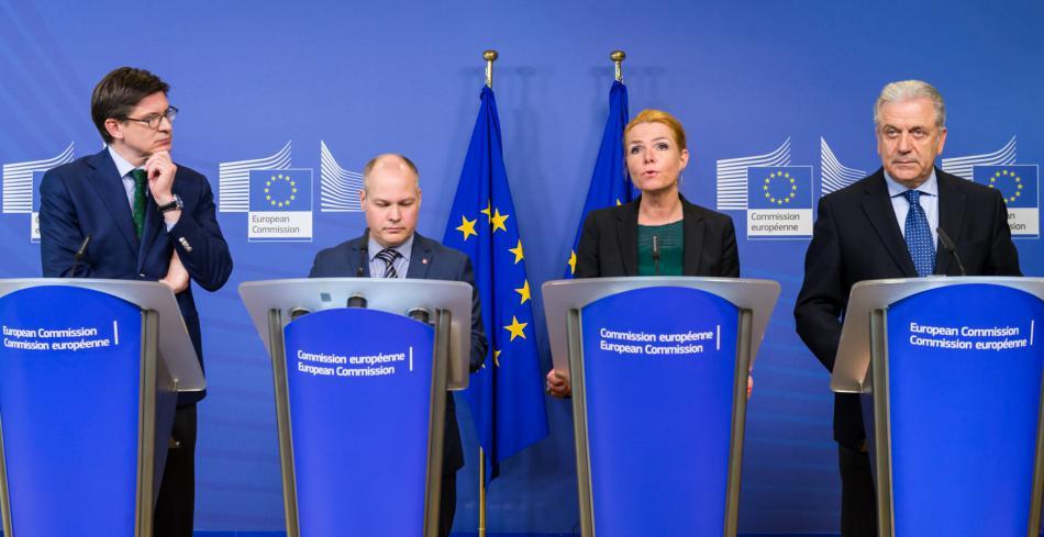 Ministři Německa, Dánska a Švédska jednali s eurokomisařem pro vnitro