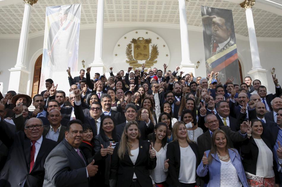 Poslanci venezuelské opozice