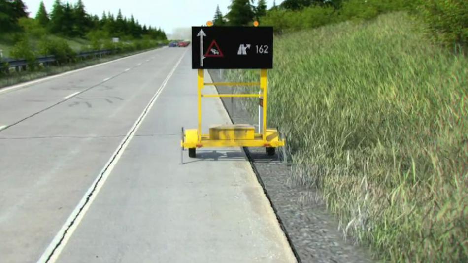 Vozík s LED značením