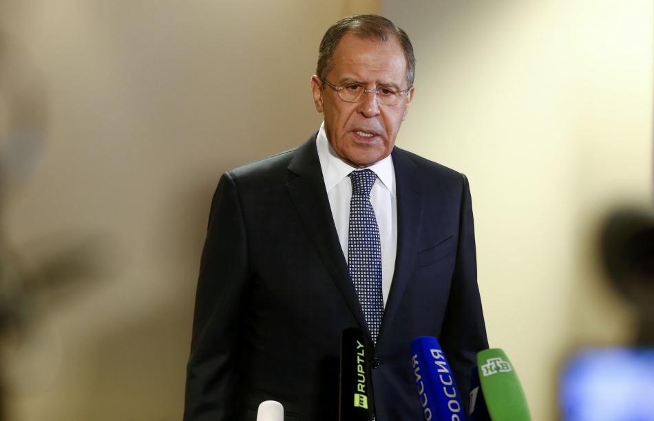 Sergej Lavrov po jednání s Johnem Kerrym