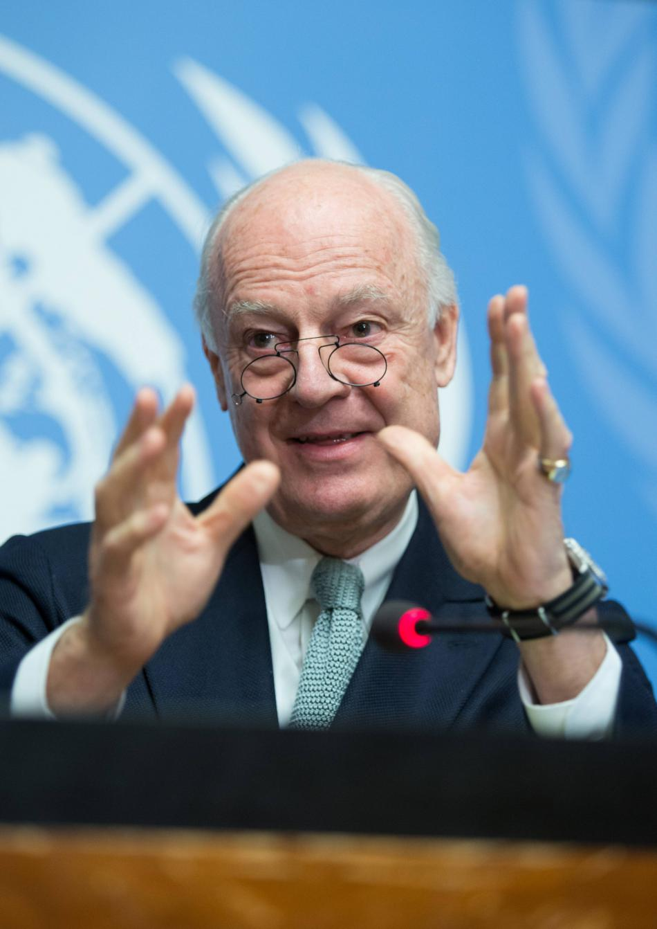 Zmocněnec OSN pro Sýrii Staffan de Mistura
