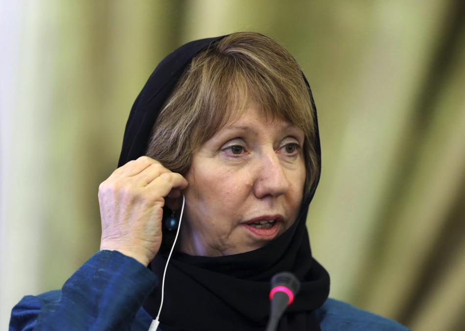 Catherine Ashtonová v Íránu