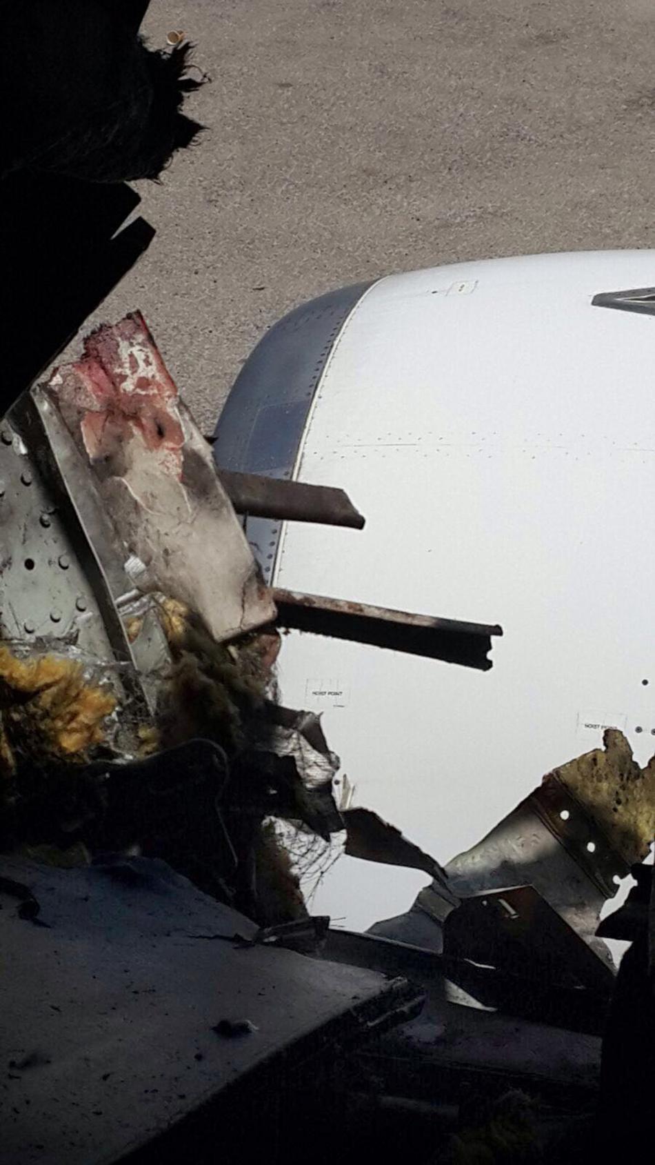 Díra v trupu letadla společnosti Daallo