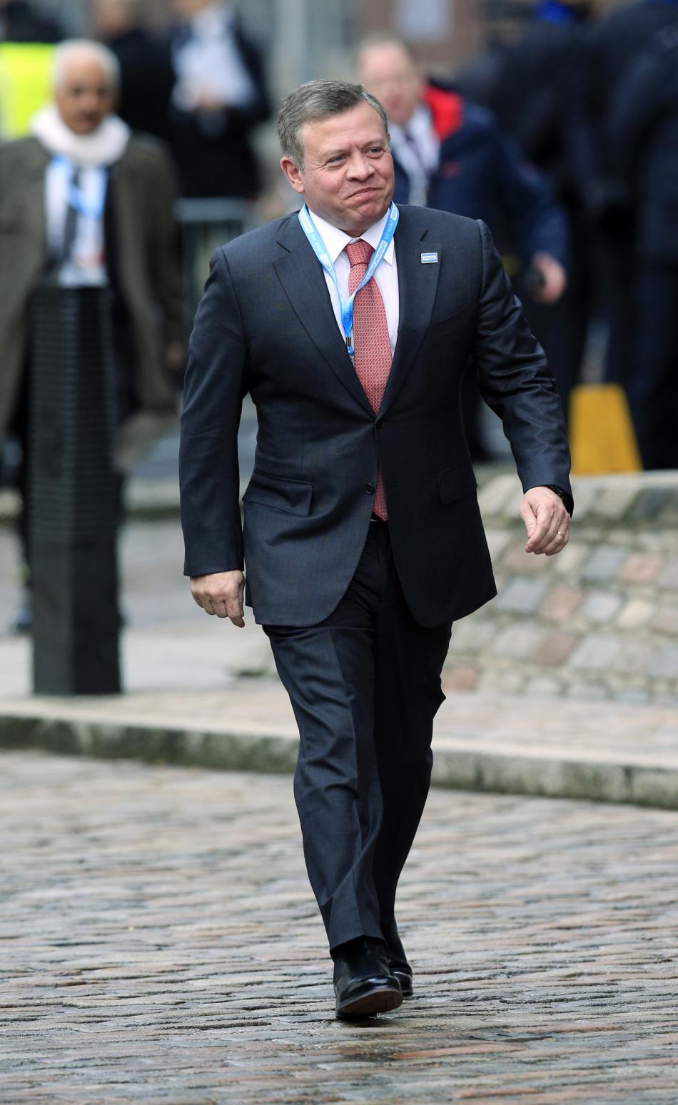 Jordánský král na dárcovské konferenci v Londýně
