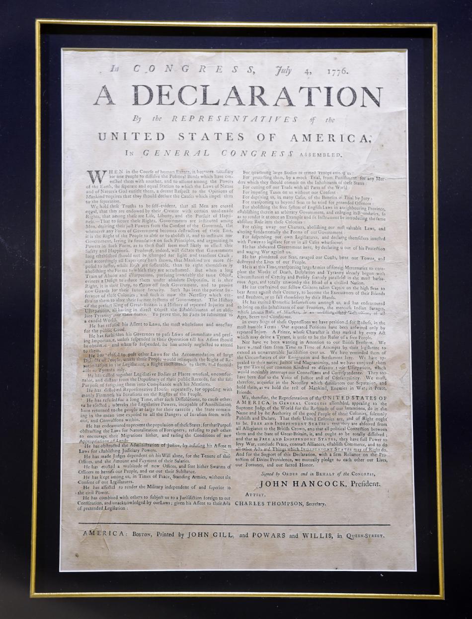 Deklarace nezávislosti USA z roku 1776