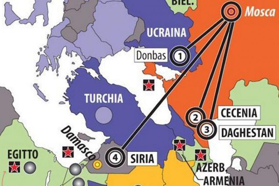 Krym jako součást Ruska v italském časopise Limes