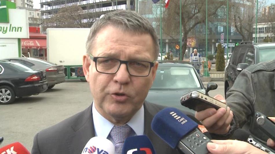 Lubomír Zaorálek ve Skopje