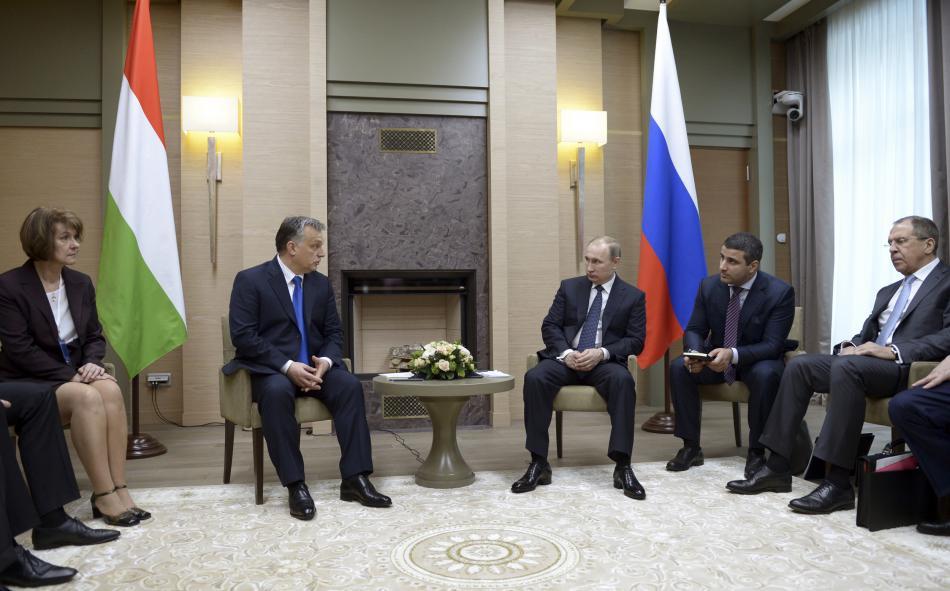 Orbán na návštěvě Moskvy