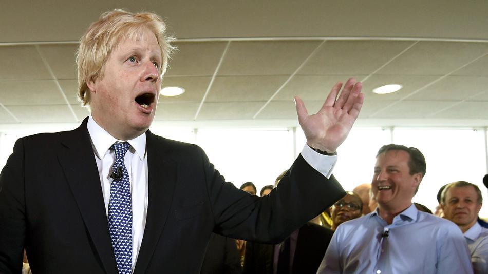Boris Johnson a David Cameron