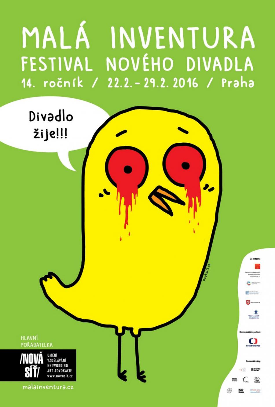 Plakát festivalu Malá inventura 2016