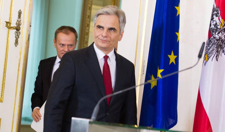 Tusk a Faymann po společném jednání