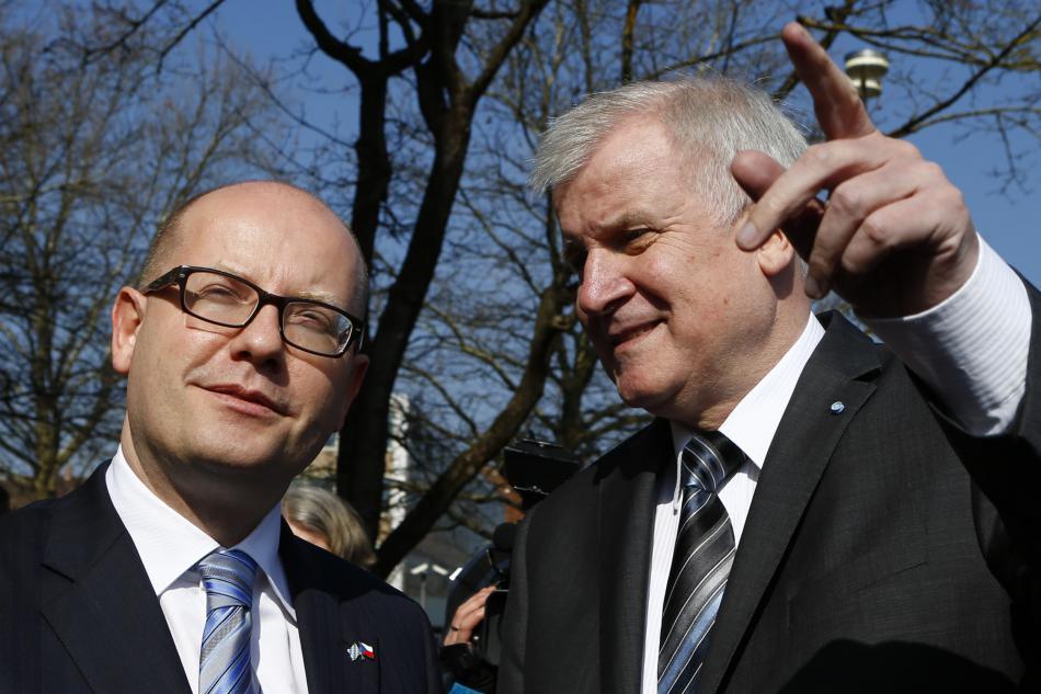 Bohuslav Sobotka s Horstem Seehoferem