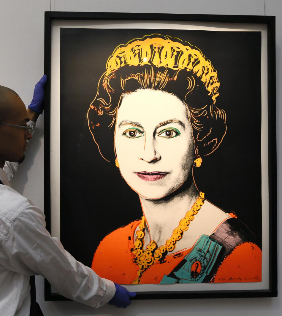 Portrét Alžběty II. od Andyho Warhola