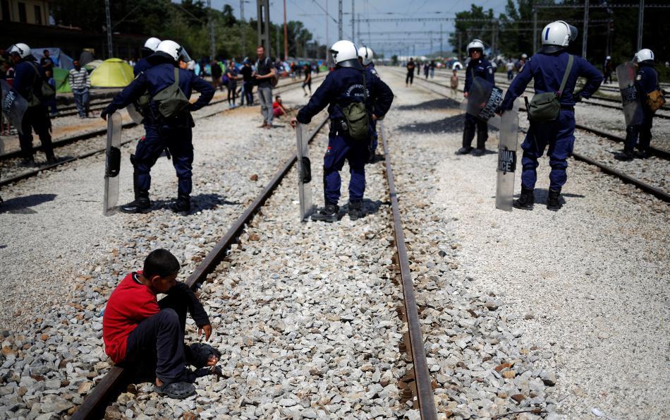 Bezpečnostní opatření na řecko-makedonské hranici