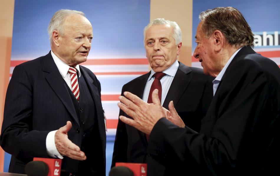 Trojice poražených: Khol, Hundstorfer a Lugner