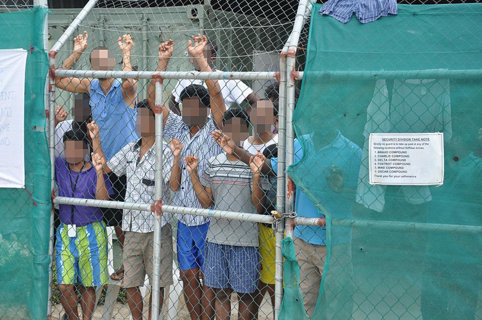 Australské detenční zařízení na ostrově Papua-Nová Guinea